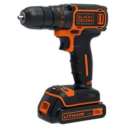 Black and Decker - 18V Lithiumion Drill Driver  200mA charger  1 battery - BDCDC18