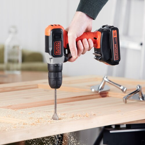 Black and Decker - 18V LithiumIon Drill Driver with 15Ah battery  400mA Charger - BCD001C1