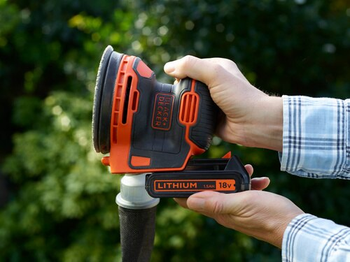 Black and Decker - 18V Lithiumion Cordless Random Orbital Sander without battery and charger - BDCROS18N